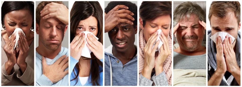 Personnes grippées